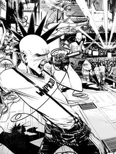 Punk Rock Jesus by Sean Murphy * Arte Punk, Punk Art, Punk Rock, Bd Cool, Character Art, Character Design, Architecture Tattoo, Arte Horror, Oui Oui