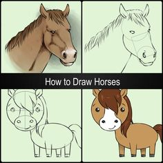 Realistic Horse? Cute Horse? wikiHow to Draw These Horses with this step-by-step guide!