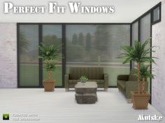 The Sims Resource: Perfect Fit Windows by Mutske • Sims 4 Downloads