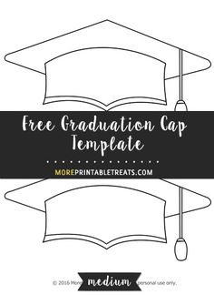 Free Graduation Cap Template - Medium