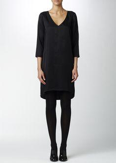 Black dress with slit details from Twist&Tango | Twist & Tango