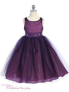 Flower girl dress.....love LOVE love this!  Is plum a weird color for an august wedding??