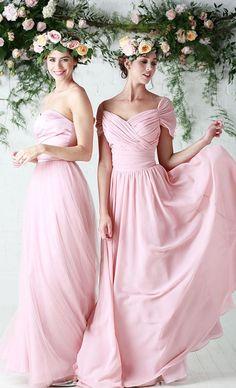 Pink C Plus Size Bridesmaids Dresses Color 2016 Amanda Wyatt Chiffon Ruched Maid Of Honors For Junior Flower S Long Bri