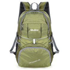 44266d2e97e2 Bekahizar Lightweight Backpack 35L Foldable Hiking Daypack Packable Travel  Day Bag for Outdoor Camping Cycling Trekking Day Trips Updated Green   ...