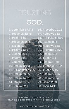 Confiando em Deus.