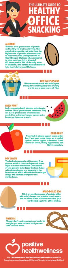 Self-Care infographic: health snacking while at work self-care for counselo Healthy Office Snacks, Health Snacks For Work, Healthy Kids, Healthy Eating, Healthy Recipes, Wellness Tips, Health And Wellness, Healthcare Quotes, Health Symbol