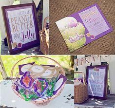 Peanut Butter and Jelly INSTANT DOWNLOAD Party Printables Twins Birthday by ItsyBelle, $25.00