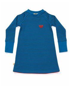 Blauw gestreepte Doll school dress - Albababy - Pepatino.be
