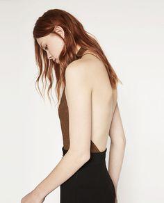 Image 3 of HALTER NECK BODYSUIT from Zara