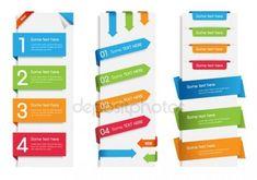 Etiquetas, etiquetas y calcomanías de colores web — Ilustración de stock
