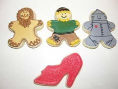 Wizard of Oz Cookies using Gingerbread Man and High Heel Shoe Cookie Cutters