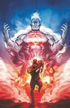 Captain Atom vs Flash •Stanley 'Artgerm' Lau