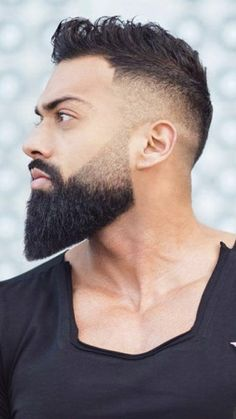 Cool Hairstyles For Men, Men's Hairstyles, Hairy Men, Bearded Men, Hair And Beard Styles, Hair Styles, Beard Grooming, Awesome Beards, Fade Haircut