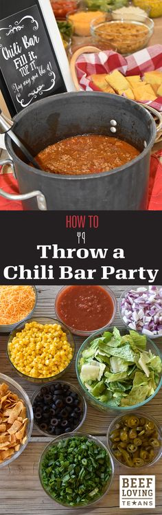 Just because Super Bowl is over, doesn't mean entertaining for a crowd is. Learn how to throw the perfect chili bar party.