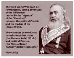 1871 Freemason Albert Pike lays down catalyst for WW3.