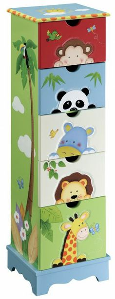 Jungle Kid!    Kids Drawer Cabinet - Sunny Safari. from Red Wrappings    #jungle #madagascar