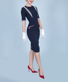 Look at this Tatyana Navy Commodore Dress - Women & Plus on #zulily today!