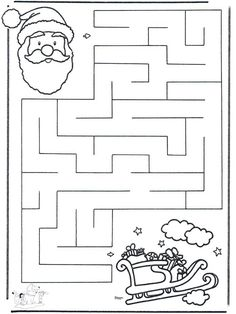 X-mas labyrinth 2 - Craft Christmas Christmas Maze, Preschool Christmas, Christmas Activities, Christmas Crafts For Kids, Christmas Colors, Christmas Themes, Preschool Activities, Holiday Crafts, Christmas Worksheets