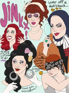 Jinkx Monsoon illustration fan art