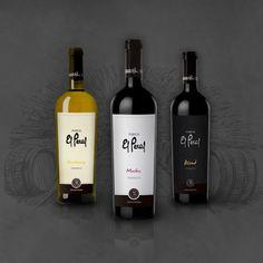 Diseño de etiquetas de vinos (selección de papel, cuño, relieve y stamping) y marca soporte para la bodega Uruco Wines