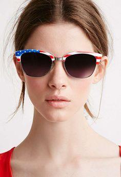 American Flag Sunglasses $6 #12WaysToStyleTheFourthOfJuly