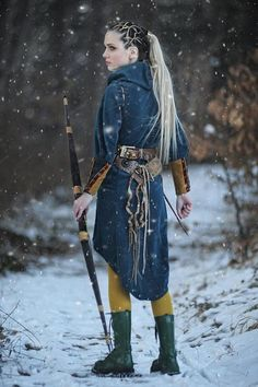 Women medieval dress Elf costume/Dark blue elf costume with Viking Halloween Costume, Medieval Costume, Medieval Dress, Female Warrior Costume, Wood Elf Costume, Medieval Outfits, Medieval Girl, Archer Costume, Viking Cosplay