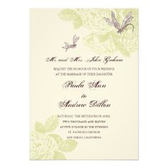 Retro Rose Wedding Invitation