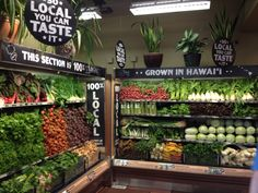 SO HOT: Fresh, local, yummy produce in a gorgeous display of colors. Oahu's Whole Foods.