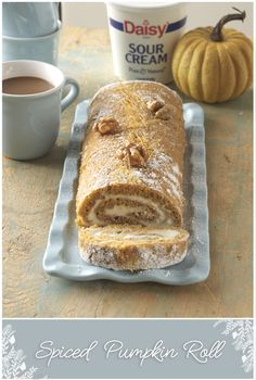 Bring something new to the table this holiday season with a Spiced Pumpkin Roll! With swirls of sweet filling rolled inside a soft pumpkin cake, this impressive dessert is a great alternative to pumpkin pie.