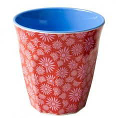 Two-tone melamine cup red Casablanca print