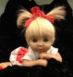 75 OOAK hand sculpted polymer clay baby by VS by VeraSusiesDollies, $275.00