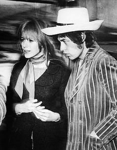 Mick Jagger and Marianne Faithfull Date Photographed: February 3, 1967
