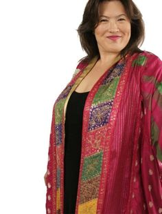 SHOP NOW: Unique jackets for women Sizes 14 - mother of the bride, special occasion, artwear, elegant and unique women's clothing,xoPeg Mature Fashion, Over 50 Womens Fashion, Fashion Over 50, Curvy Fashion, Plus Size Fashion, Green Fashion, Formal Dresses With Sleeves, Plus Size Dresses, Plus Size Outfits