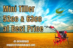 Chandakagro offering the best and most perfect quality Mini Tiller. These tillers are highly appreciated for agriculture prupose like cultivation, tillage, sowing, and weeding which contains a set of blades mounted with a wheeled housing. For small & marginal farmers a mini Tiller is the best choice #MiniTiller Mini Tiller, Power Sprayer, Spray Hose, Car Washer, Weeding, Farmers, Agriculture, Grass, Weed Control