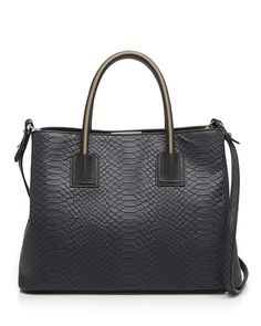 MILLY Tote - Logan Snake-Embossed | Bloomingdale's