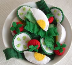 Hey, I found this really awesome Etsy listing at http://www.etsy.com/listing/70538375/fun-felt-salad-for-pretend-play-lettuce