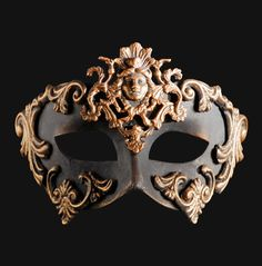This luxury masquerade ball mask is painted i antique bronze and adorned with ornate designs.An extravagantly designed and handcrafted Venetian mask for a man or woman Masquerade Ball Party, Venetian Masquerade Masks, Venetian Carnival Masks, Masquerade Wedding, Bronze, Venice Mask, Antique Perfume Bottles, Mask Party, Masquerades