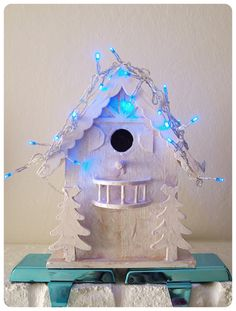 remember for next year--lights on my bird houses