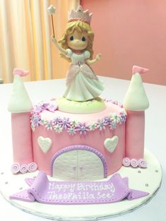 Princess Castle Cake.  Precious Moments Figurine provided by customer :)