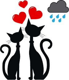 Vector - two black cats in love - stock illustration royalty free illustrations stock clip art icon stock clipart icons logo line art EPS picture pictures graphic graphics drawing drawings vector image artwork EPS vector art Silhouette Chat, Black Silhouette, Cat Quilt, Art Icon, Cat Drawing, Bottle Art, Free Illustrations, String Art, Oeuvre D'art