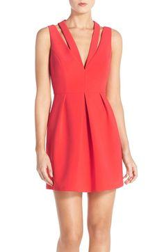 BCBGMAXAZRIA 'Clarye' Crepe Fit & Flare Dress