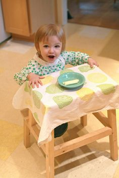 using an ikea step stool as a toddler table - ingenious!