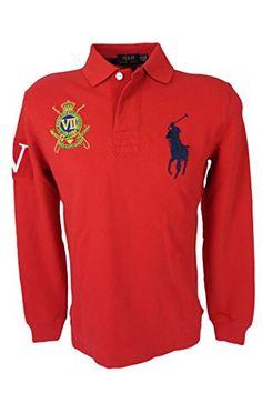 2191ef8b28398 Polo Ralph Lauren Men s Custom Fit Big Pony Crest Logo Polo Shirt