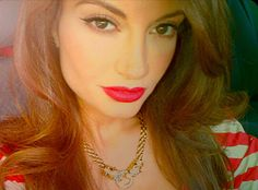 Layla rocks a Stella and Dot necklace and bright red lips. #StyleNetwork #EmpireGirls