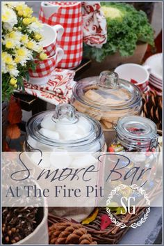 S'MORE BAR AT THE FIRE PIT - StoneGable