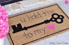 6 Festive #DIY Doormat Ideas for Valentine's Day!