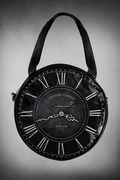 Love this bag, something different & a great price - Black Clock SMALL Round Gothic Handbag by Restyle