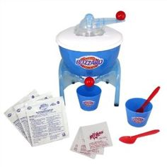 """Dairy Queen Blizzard Maker Food Playset - Spin Master - Toys """"R"""" Us Dairy Queen Blizzard, Dq Blizzard, Love Dairy, Thermal Blanket, Orange Julius, Ice Cream Candy, Toy Kitchen, Ice Cream Maker, Christmas Gifts For Kids"""