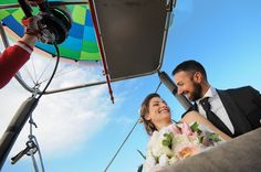 Destination Wedding in Southern Italy, Calabria: symbolic cerimony by hote-air balloon Southern Italy, Hot Air Balloon, Vows, Destination Wedding, Balloons, Romantic, Travel, Voyage, Hot Air Balloons