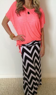 Sunshine Trails Maxi Skirt just got restocked in four gorgeous colors! This is one of our most popular chevron skirts! So adorable!! http://www.sexymodest.com/collections/featured/products/sunshine-trails-maxi #sexymodestboutique